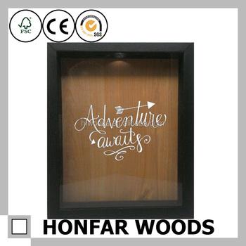 Great Australia Pop Black Natural Wood Shadow Box Frame Wall Art Decor
