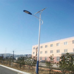 Tapered Single Arm LED Galvanized/Stainless Steel Street Light Pole