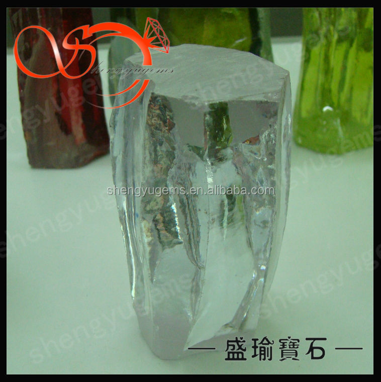 raw material good quality white color cubic zircon rough stone