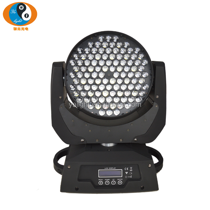 High quality 108 led 3W RGBW 4IN1 Moving Head wash Light for dj stage show Christmas party event