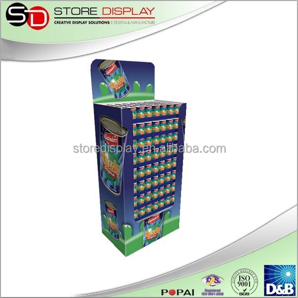 wholesale in china beer can energy drink display stand shelves