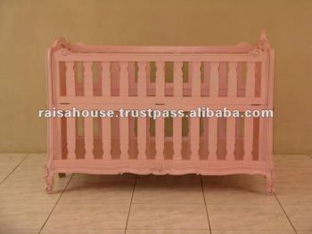 Indonesia Furniture-Antique Louis Baby Crib