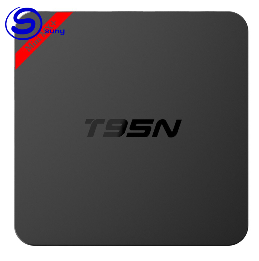 T95N Android 6.0 Smart <strong>TV</strong> <strong>Box</strong> <strong>Amlogic</strong> S905X 64 bit Quad Core 4K 2K H.265 KODI IPTV Set-top <strong>box</strong> Mini MX plus