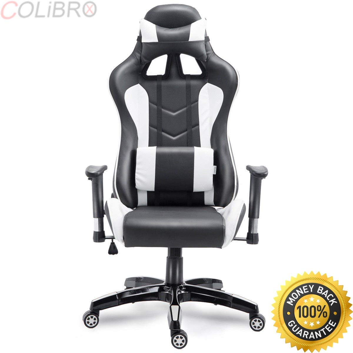 COLIBROX--High Back Executive Racing Reclining Gaming Chair Swivel PU Leather Office Chair. high back executive racing reclining gaming chair swivel pu leather office chair. gaming chair walmart.