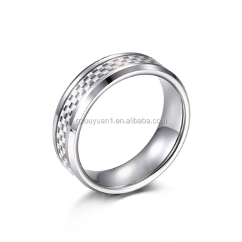 Tungsten Firefighter Wedding Rings Men Jewelry With Carbon Fiber