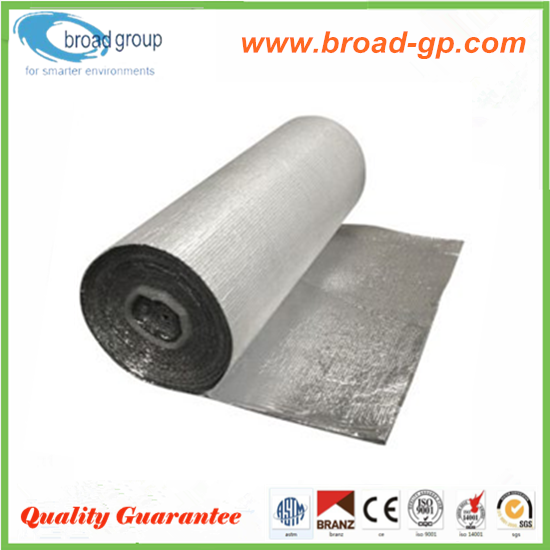 Strong resistance aluminized Foil backed double bubble foil insulation
