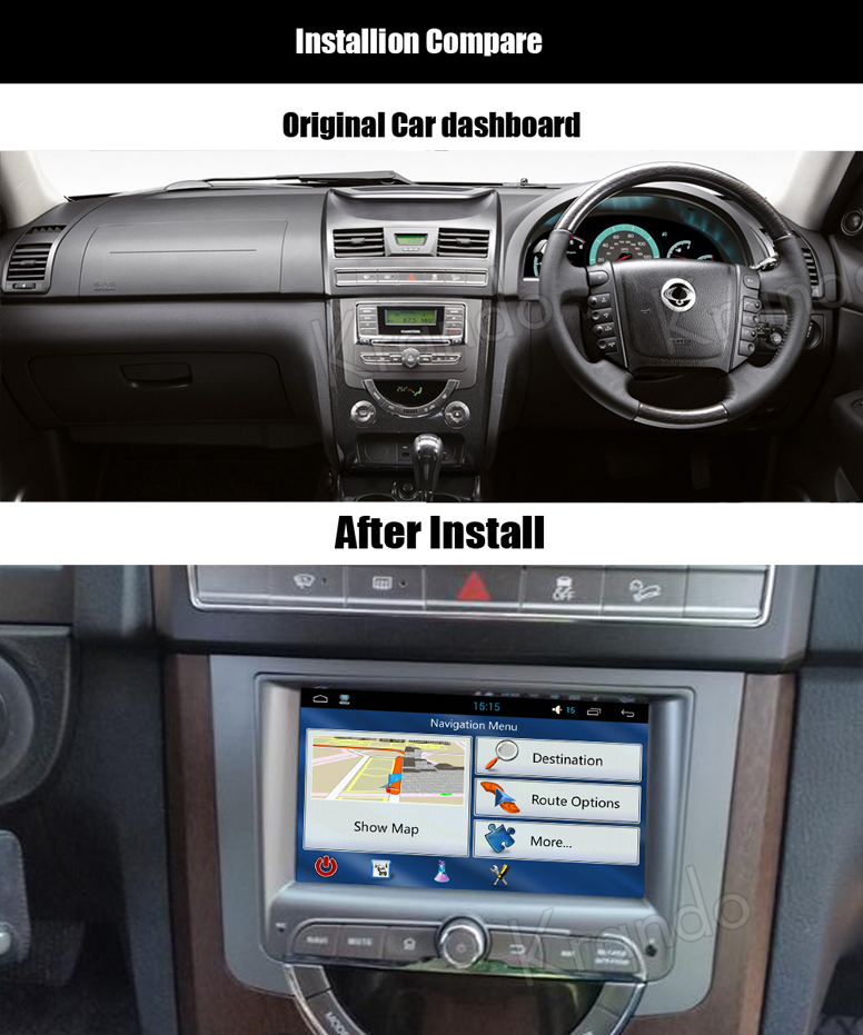 car dvd gps for ssangyong rexton