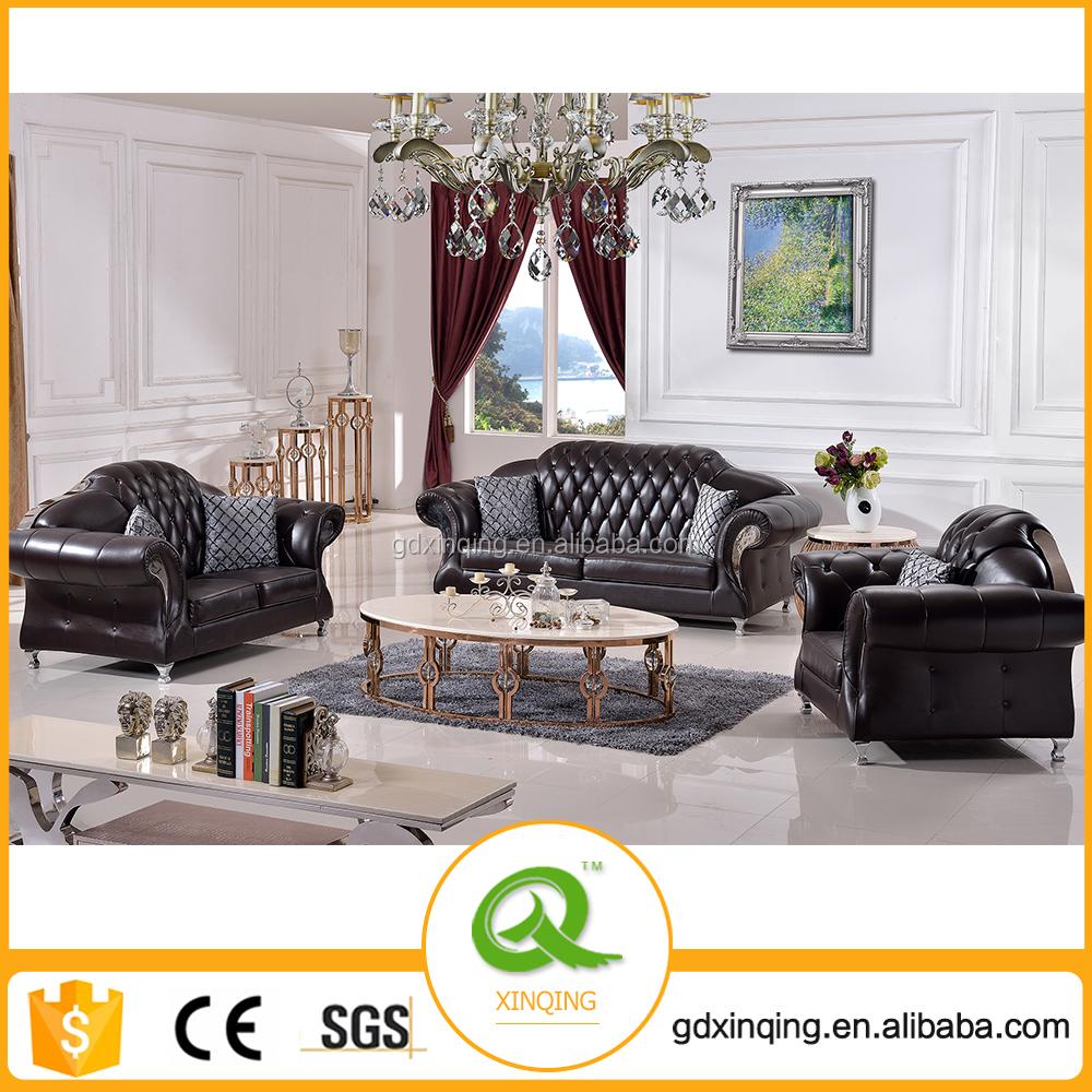 Hermosa Sofá De Cuero Muebles De Asiento 2 Cresta - Muebles Para ...