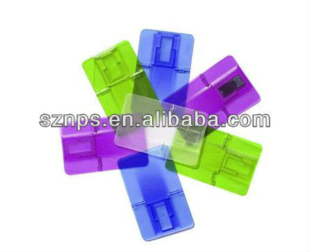 Foldable plastic credit card USB Sticks with USB 2.0 interface