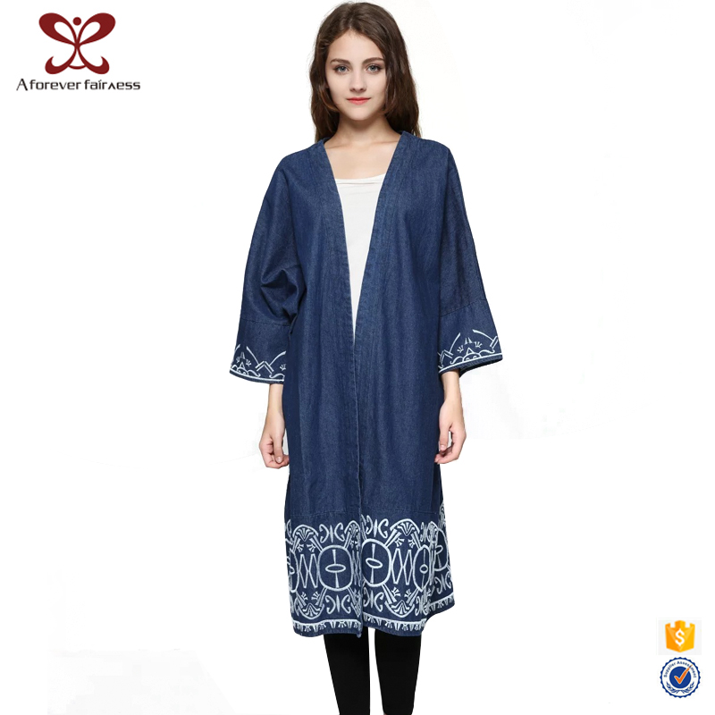 Long Denim Coat For Women Long Denim Coat For Women Suppliers and