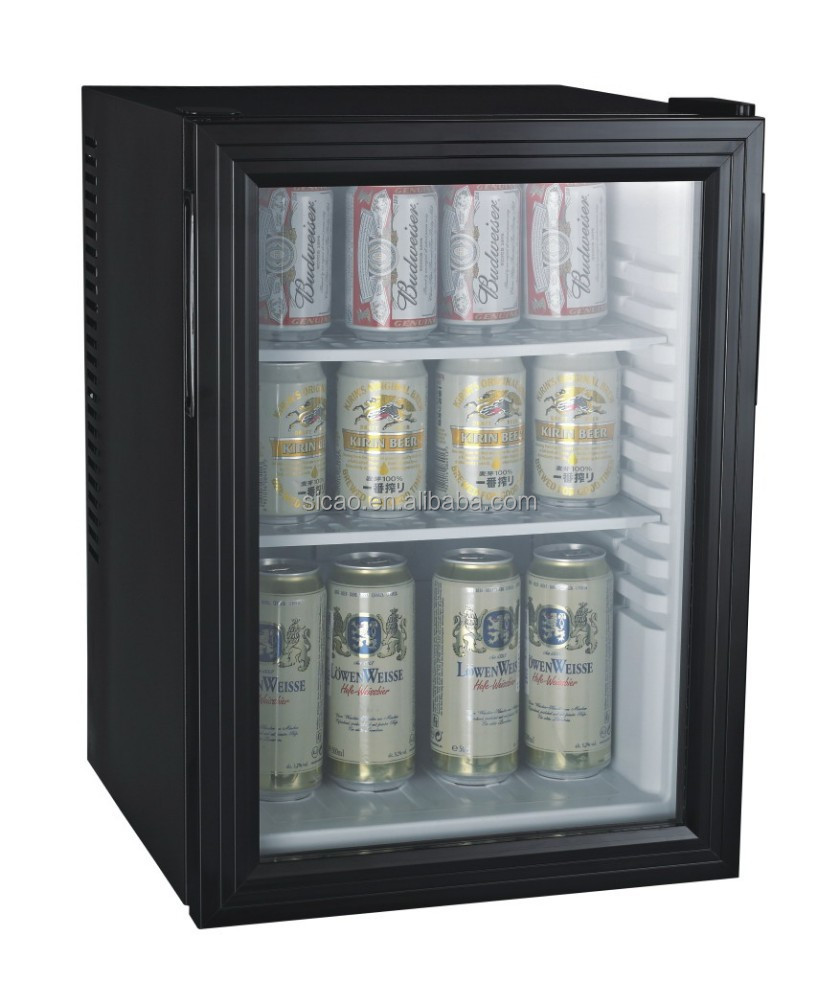 glass door thermoelectric 40L minibar for hotel