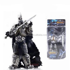 "DC World of Warcraft WOW the lich King Arthas 7"" toy action figure"