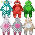 0 18Months Autumn Winter Infant Girls Boys Rompers Newborn Clothing Soft Fleece Hooded Cartoon Baby Jumpsuit