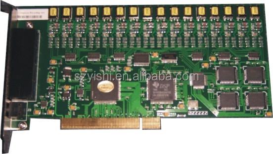 Wholesale 16-Channel PCI phone recording card USB2.0 voice ...