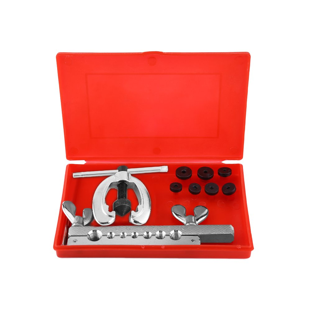 Flare Tool Kit,9pcs Industrial Universal Hydraulic Pipe Flaring And Swaging Swage Metric Tool Kit with Hand Carrying Case