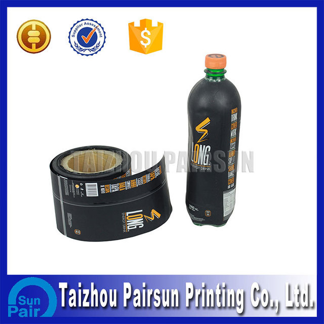 sleeve and roll juice PVC customized plastic bottle shrink label
