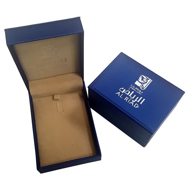 Custom made luxury pu leather jewelry box packaging