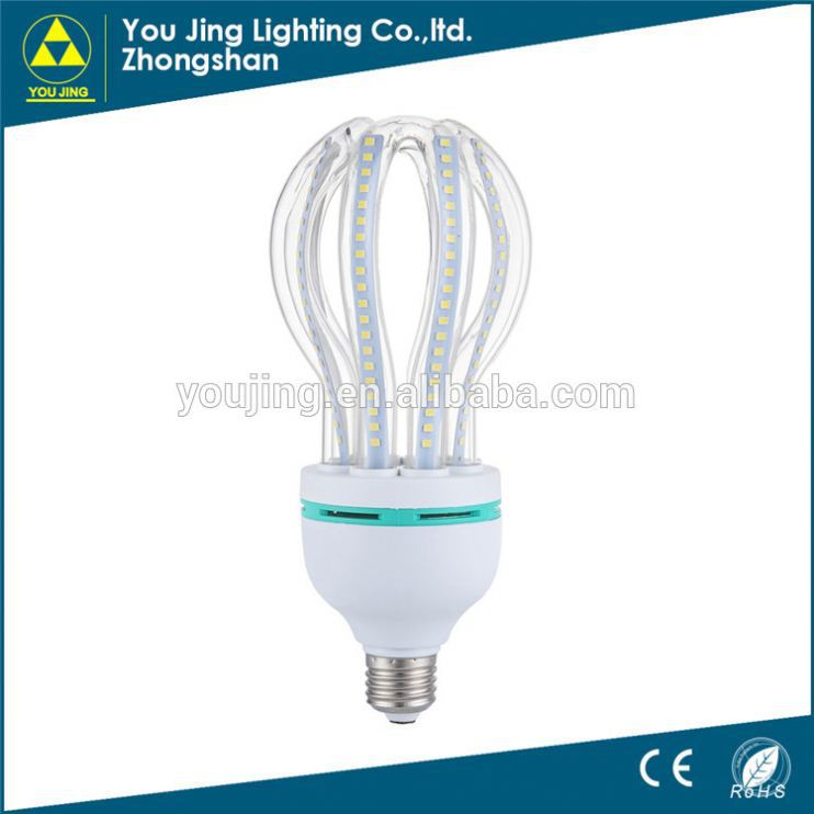 led bulb fully automatic production line 45w lotus energy saving lamps half spiral energy saving lamp