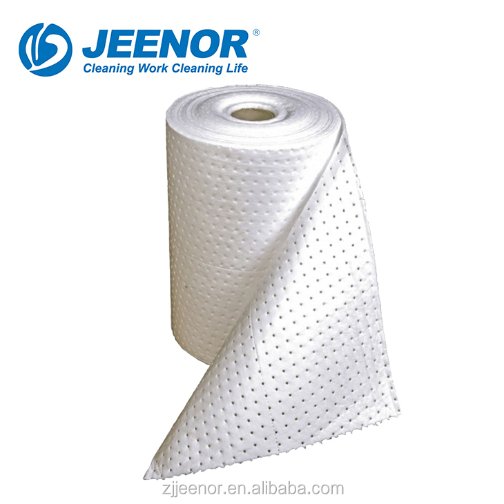 High quality Oil only White Absorbent Mat Roll for sale