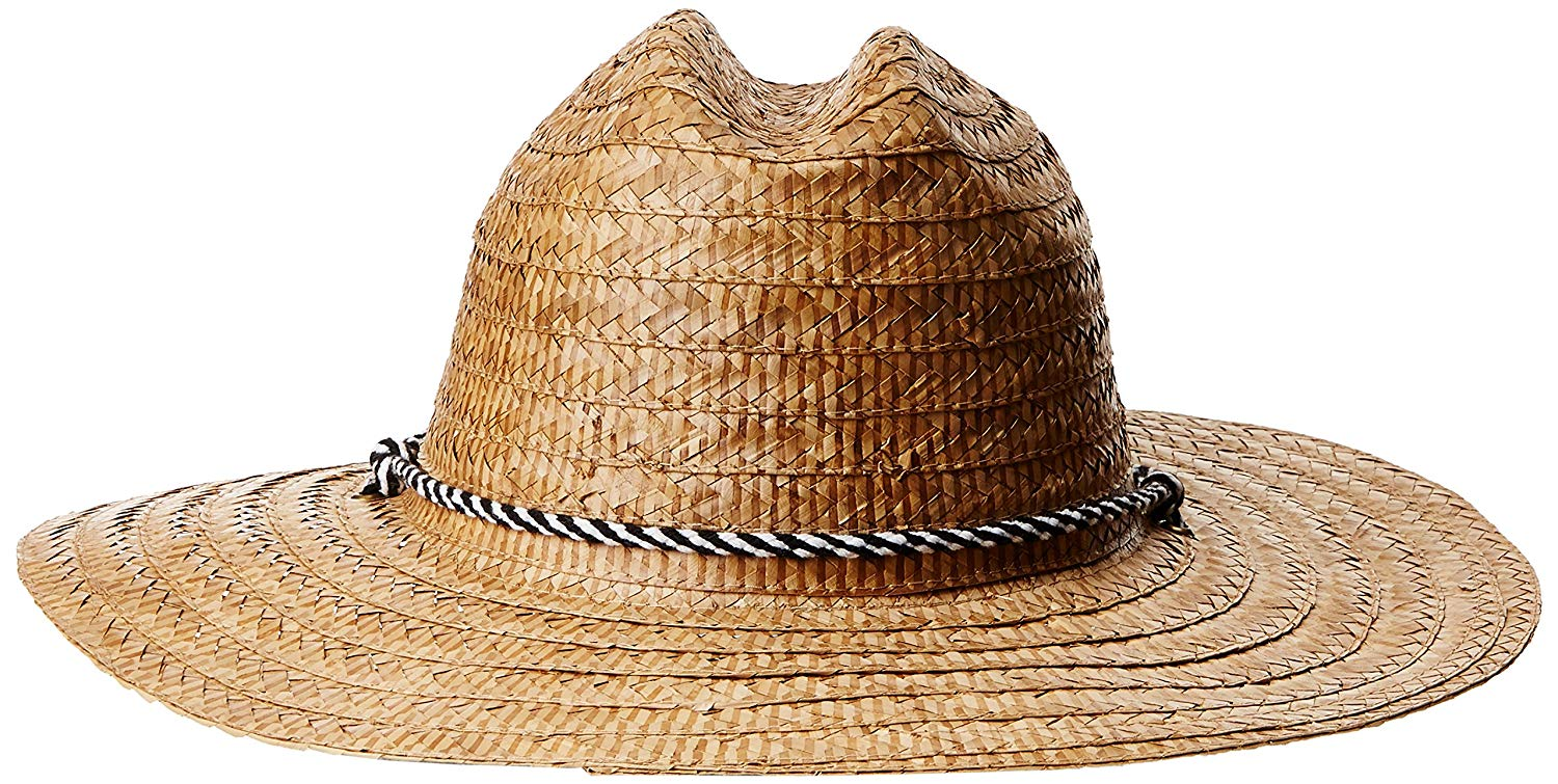 62d24c01 Get Quotations · San Diego Hat Company Men's Kwai Braided Straw Lifeguard  Hat