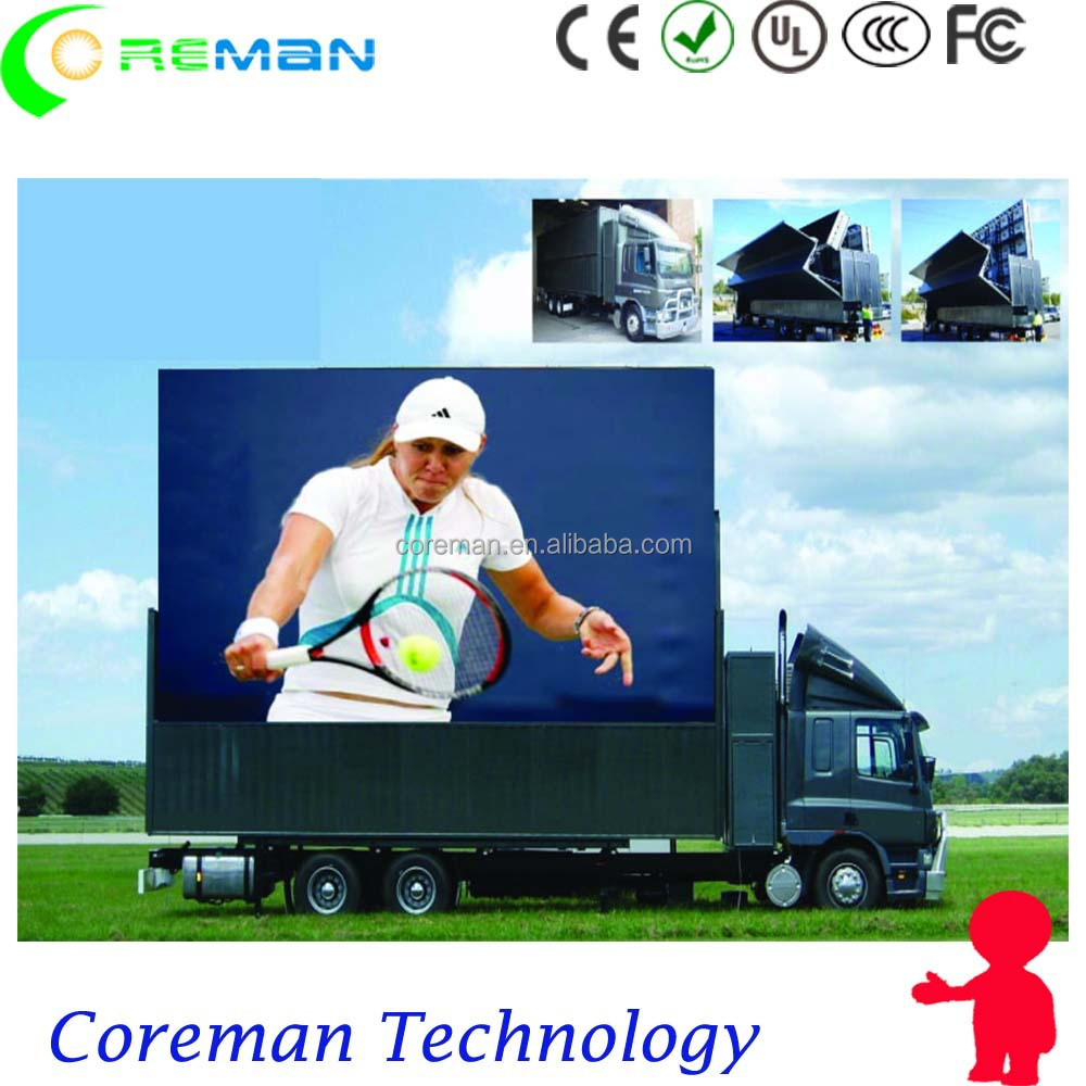 flexible oled displays / live show full color video truck led screen / advertising led truck screen outdoor p8