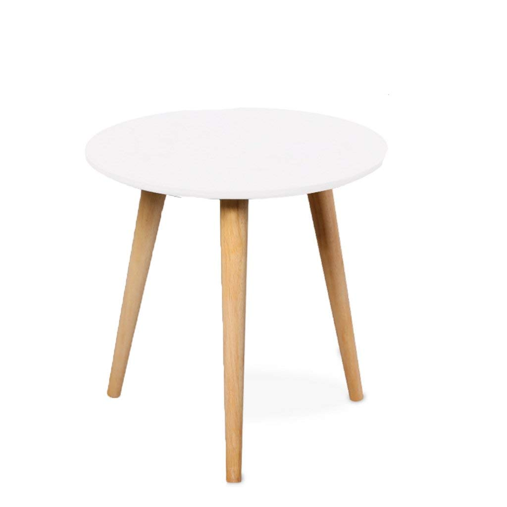 NUBAO A Few Tables Around The Sofa Corner Table A Small Mini Coffee Table Round Table Telephone Table Coffee Table Solid Wood Round Table Sofa Side Table (Size : S)