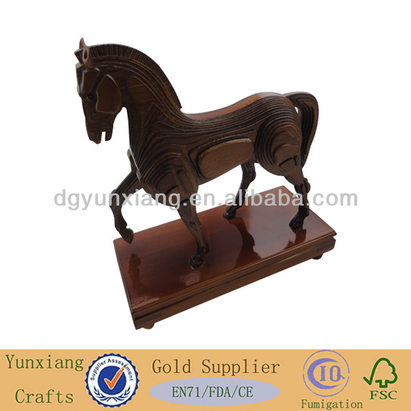 Decorative horse made by <strong>wood</strong>
