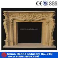 Modern marble Fireplace for sale &China Yellow Marble Fireplace Fireplace Decorating