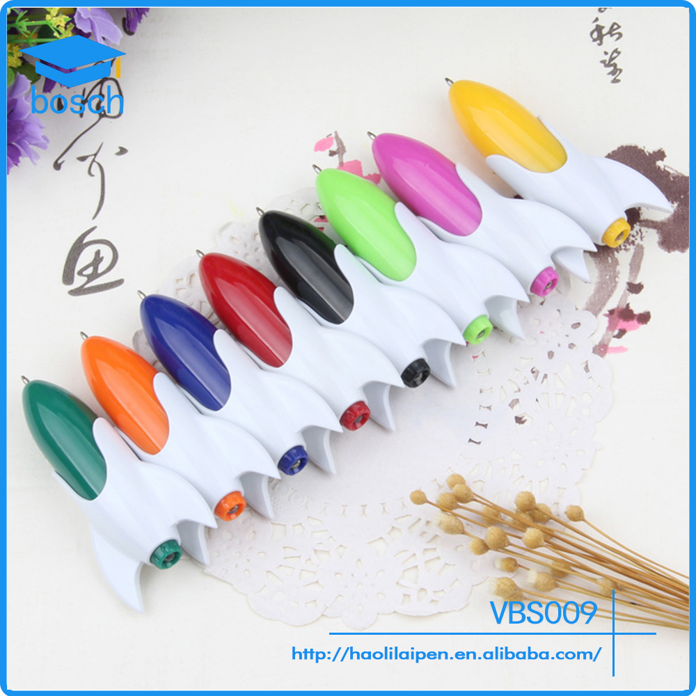 Small New Design Plastic Rocket Shaped Light Pen Promotion Gift