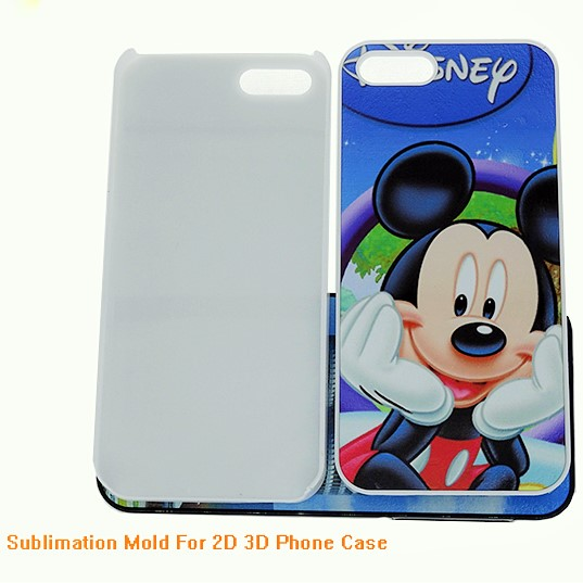 Blank fashion Cell Phone Case Sublimation phone holster 2D Sublimation Phone case for iPhone 5