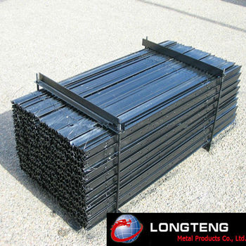 Metal T Post fence post drive cap for round metal posts. metal black fence post