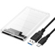 Blueendless BS-T23M transparent luxury 2.5 type c hdd enclosure usb3.1 to sata hard disk case