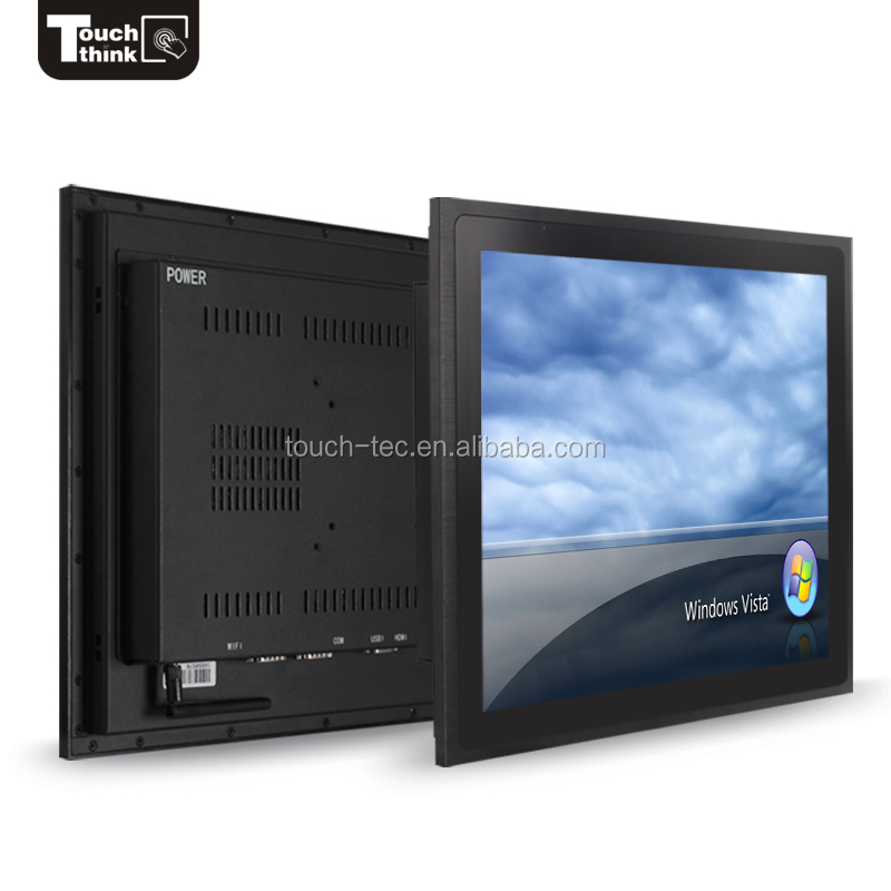 19 inch Industrial Embedded Open Frame TFT LCD Monitor with Metal Case DVI/VGA/USB Ports for automation application
