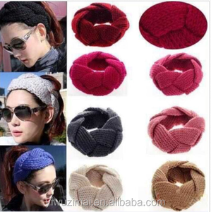 Hot Colorful Women Twist Soft Hairband Woolen Yarn Knit Headband