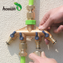 Superior quality manifold faucet hose brass 4 way copper fitting