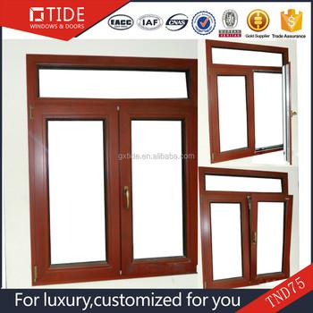 De alto rendimiento a prueba de balas ventana y puertas de for Ventanas de aluminio con marco de madera