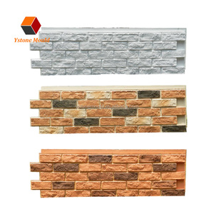 Polyurethane faux outdoor flexible foam ledge slate texture stone coating wall siding panel