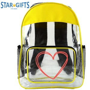 Special Good Quality School Bag Clear PVC Vinyl Backpack