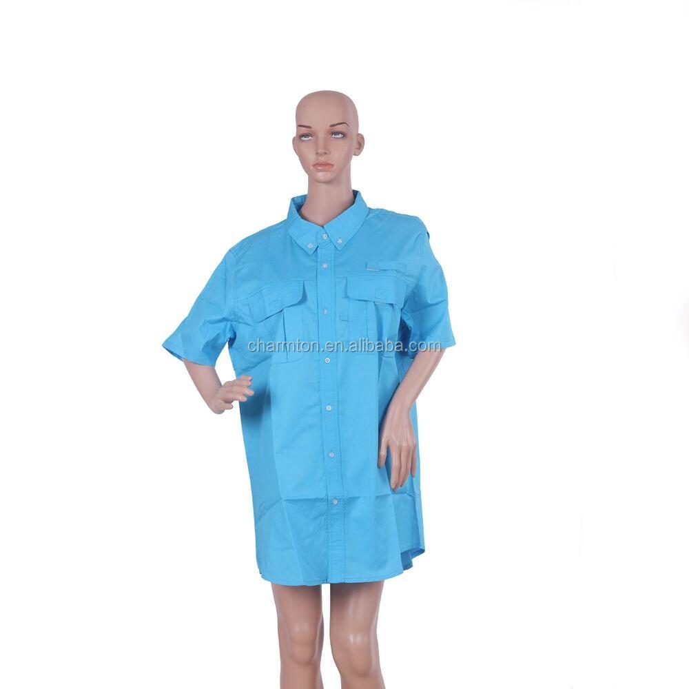 Wholesale monogrammed summer short sleeve fishing shirt for Fishing shirts cheap