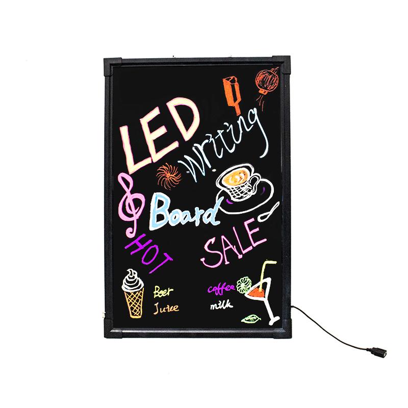 Flashing Illuminated Erasable Neon Led Message Menu Sign Writing Board -  Buy Led Writing Board,Led Sign/display Board,Led Advertising Board Product  on