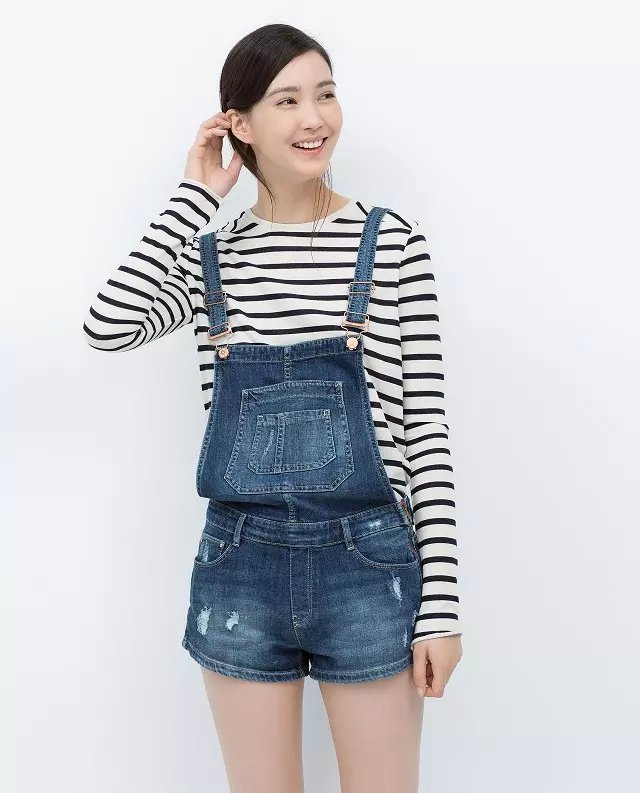 23031a5379f1 Get Quotations · 2015 Brand New Women s fashion denim shorts lovely ripped  side zipper Shorts Overalls