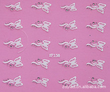 3D butterfly design Water Transfer Nails Art Sticker decals lady women manicure tools Nail Wraps Decals