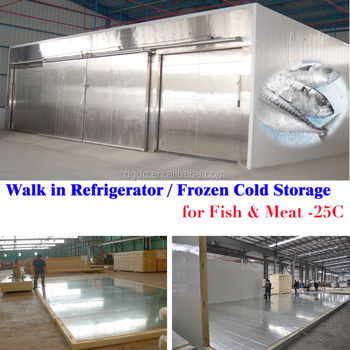 100m2 Walk In Refrigerator For Frozen Meat And Fish In