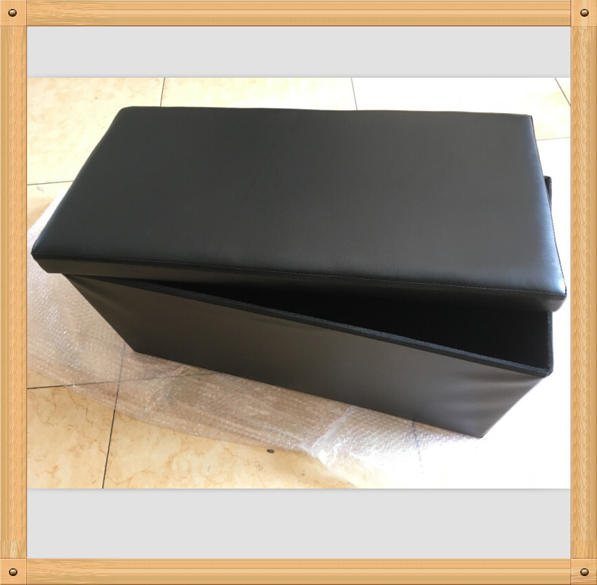 bw china faux leather home goods ottoman MDF high quality cheap price foldable storage ottoman leather