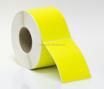 Zebra Printer direct thermal shipping label yellow
