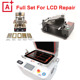 2016 Newest Full Set LCD Refurbish machines AK 2in1 Vacuum Glass laminating machine and oca laminator + 5in1 frame lcd separator