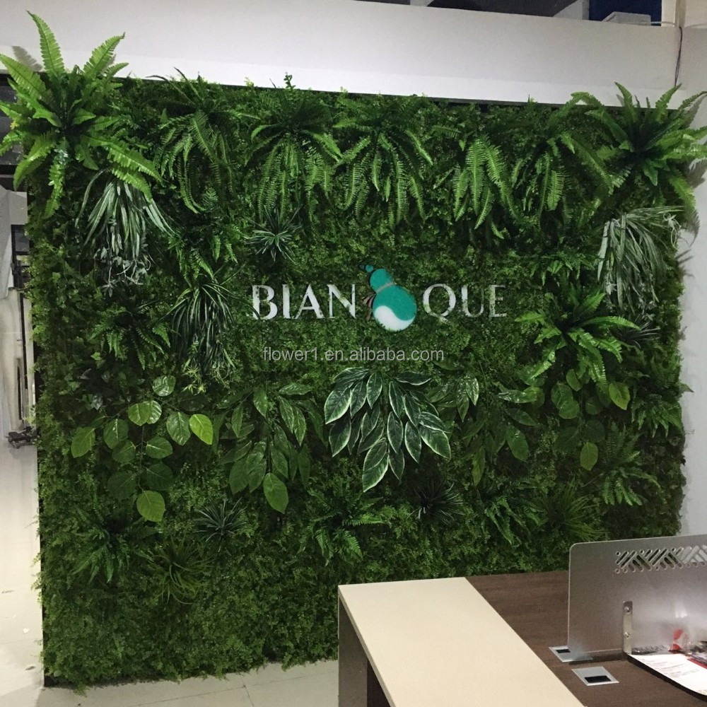 Flowerking Brand Decoration Artificial Greenery Wall
