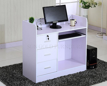 White Modern Small Restaurant Reception Desk Furniture Sz Rtb025
