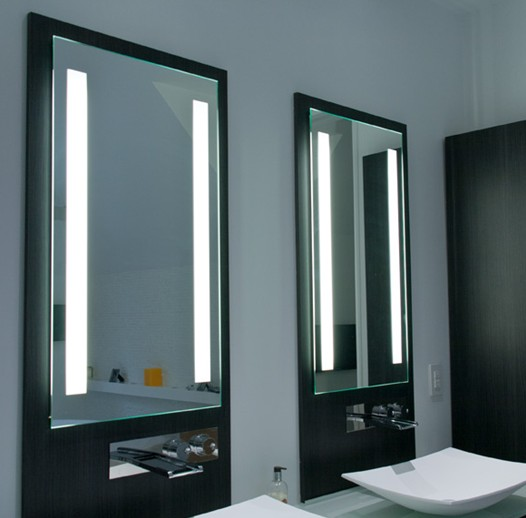 Elegant Style High-class Hotel Led Backlit Bathroom Mirrors With ...