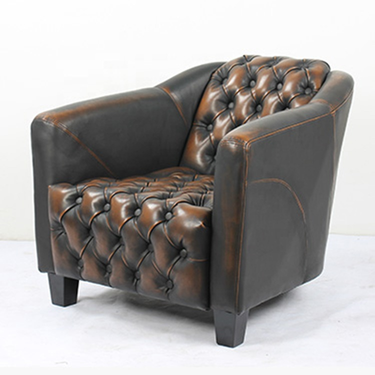 Wholesale Modern Hotel Restaurant Armchair Cheap price Furniture Leather Sectional Single Sofa Chair